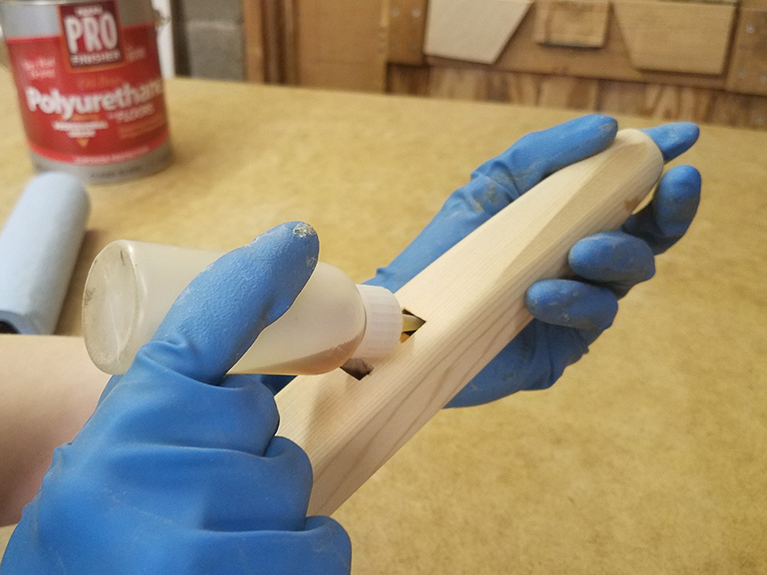 Sealing the slow air chamber of a Native American style flute - www.stellarflutes.com
