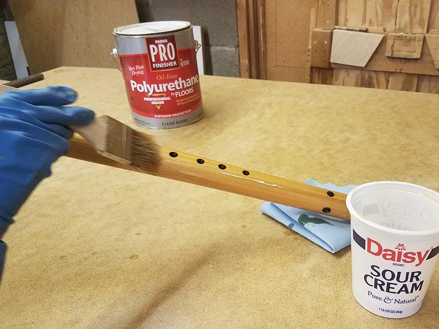 Varnishing a Stellar pre tuned flute kit - www.stellarflutes.com